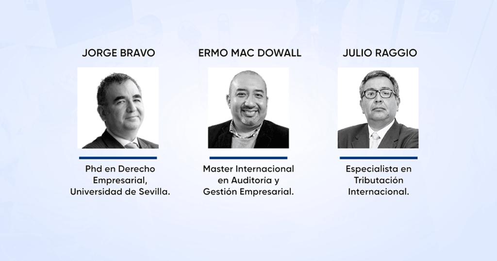 Ermo Mac Dowall, Julio Raggio y Jorge Bravo