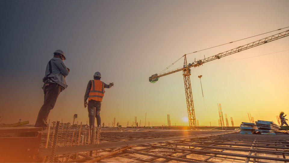 silhouette group of worker and civil engineer  in safety uniform